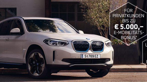 BMW iX3 mit E-Moblitätsbonus